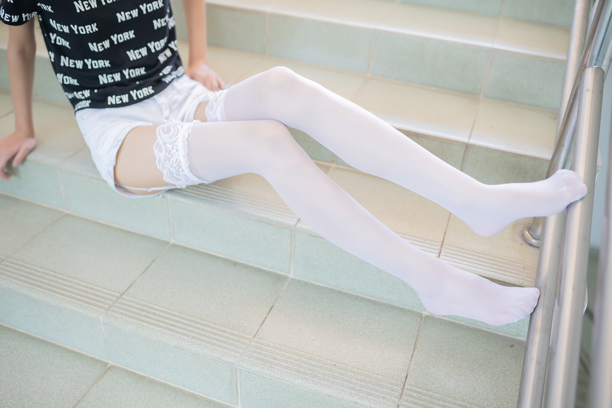 【兔玩映画】白丝吊带袜 兔玩映画 第22张