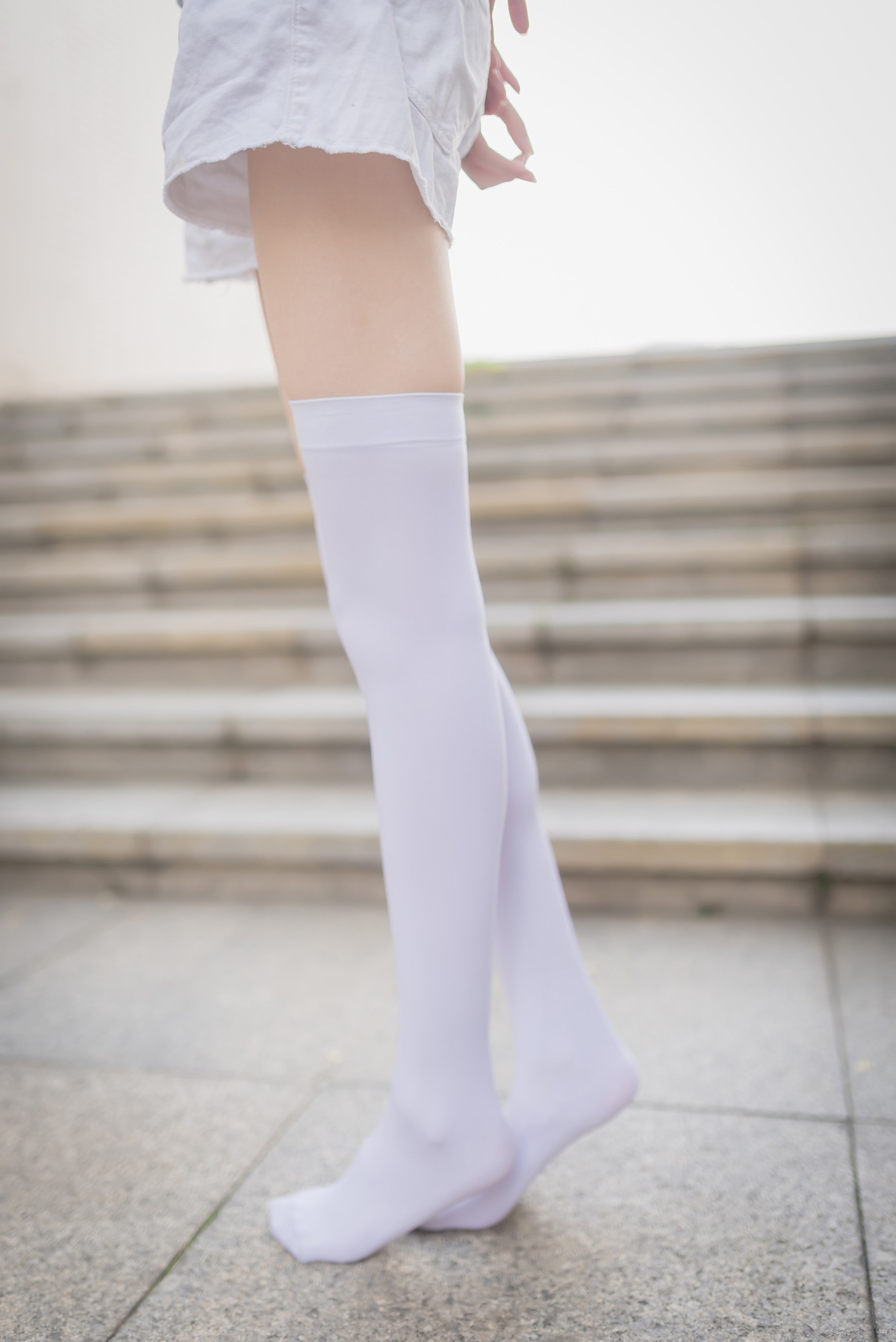 【兔玩映画】白丝过膝袜 兔玩映画 第45张