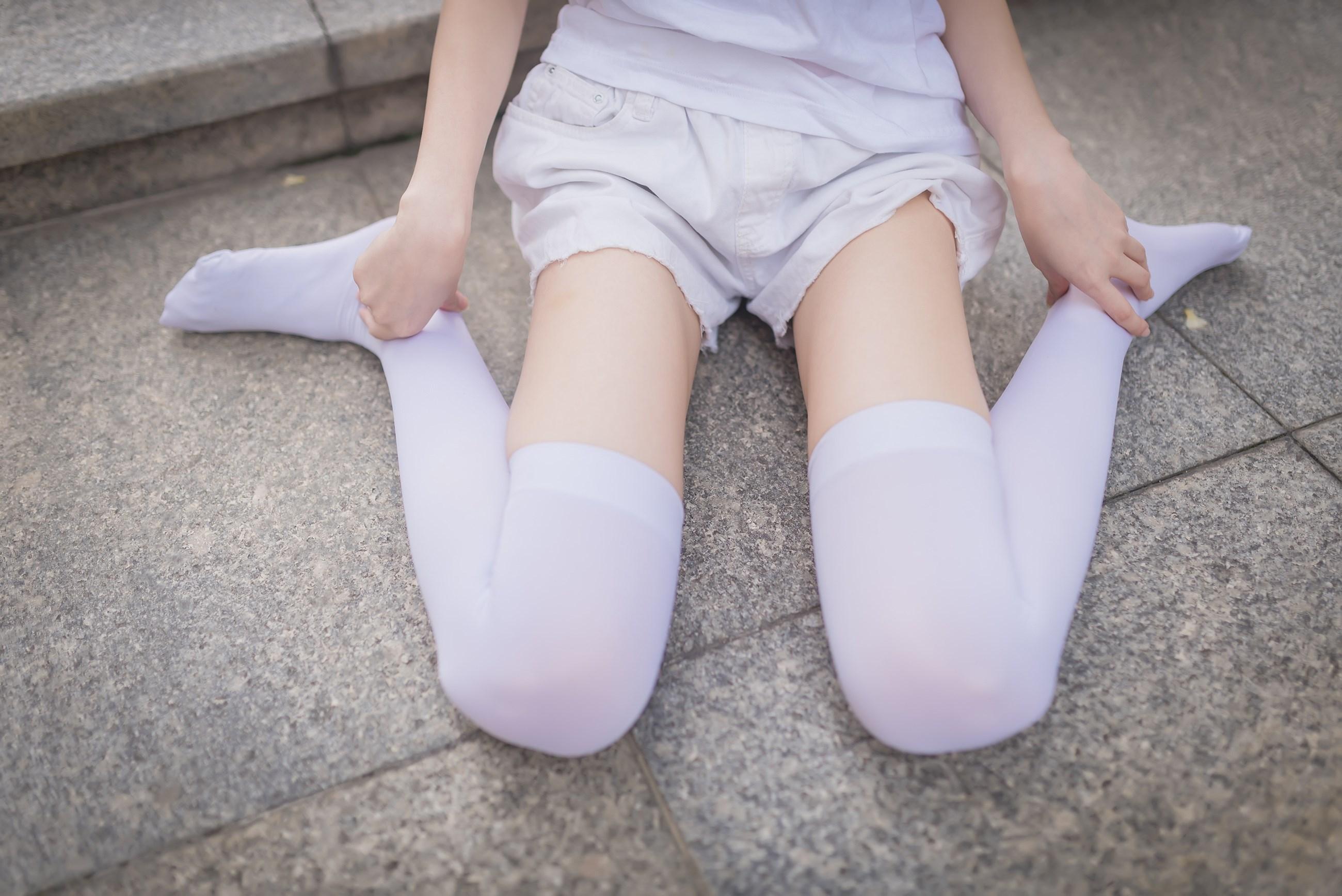 【兔玩映画】白丝过膝袜 兔玩映画 第37张