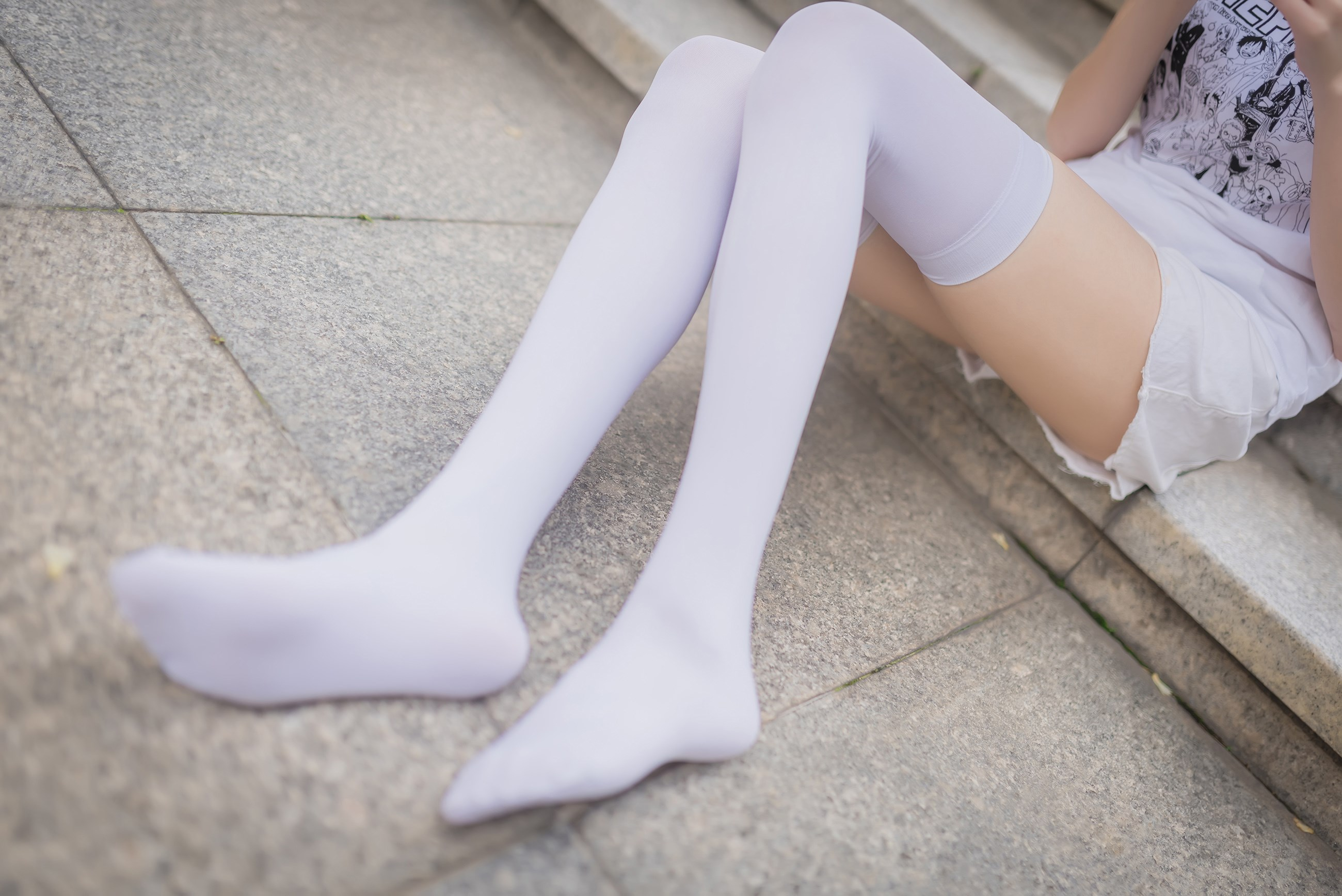 【兔玩映画】白丝过膝袜 兔玩映画 第9张