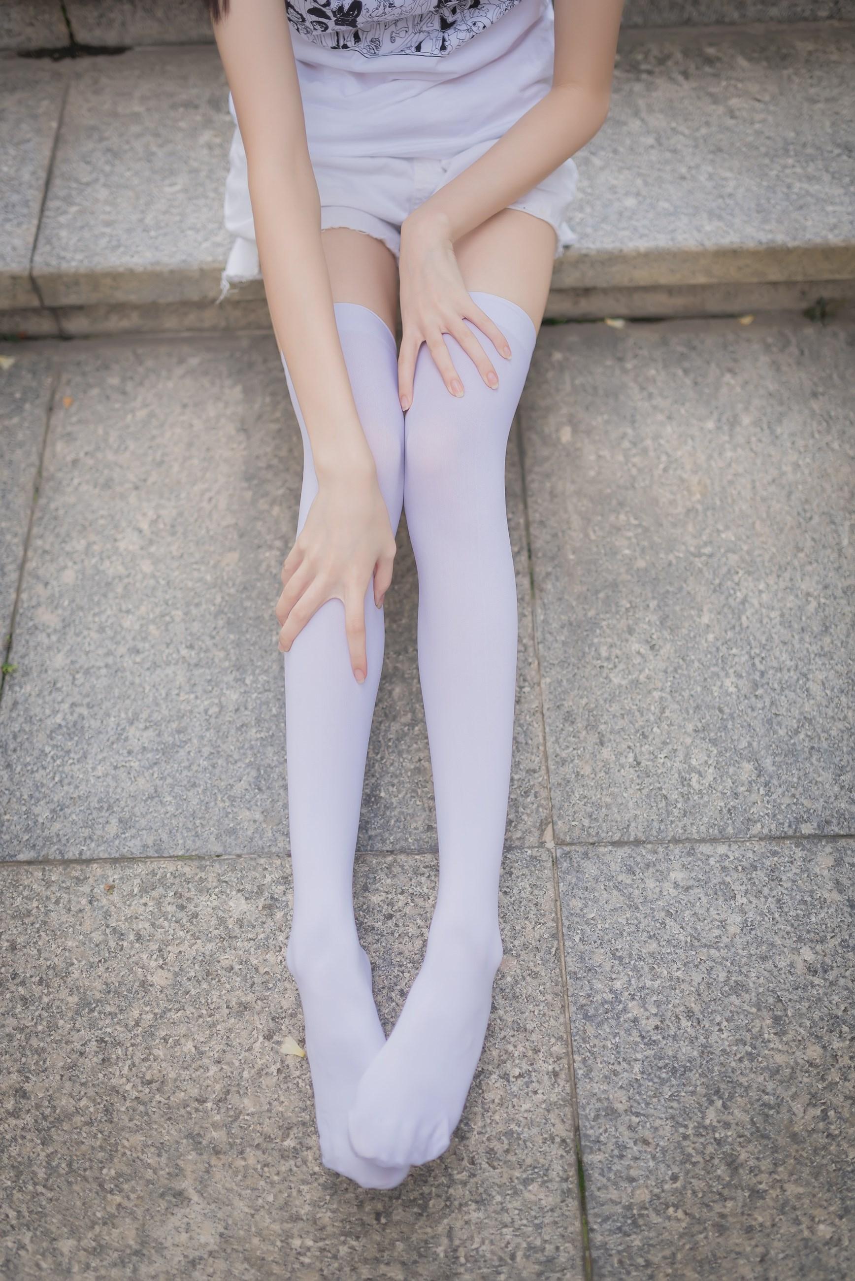 【兔玩映画】白丝过膝袜 兔玩映画 第6张