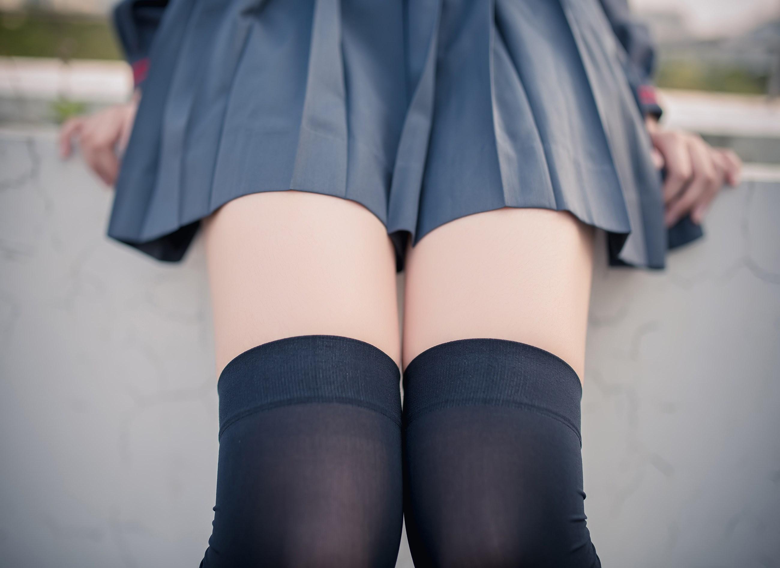 【兔玩映画】黑丝过膝袜 兔玩映画 第43张