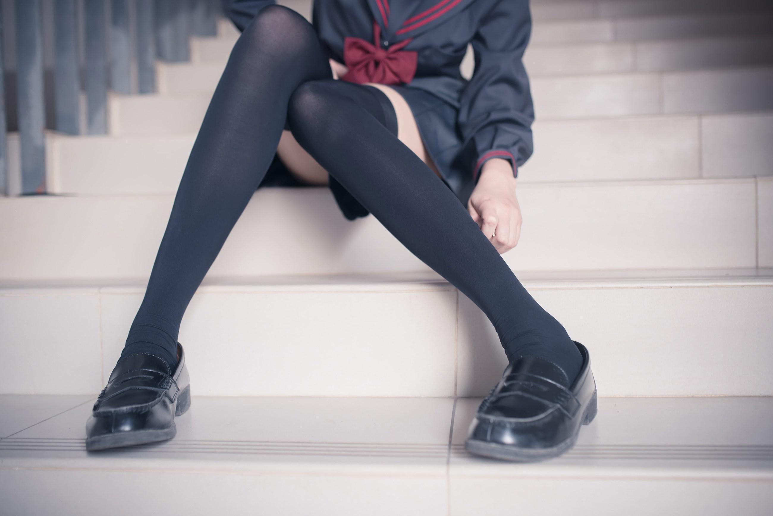 【兔玩映画】黑丝过膝袜 兔玩映画 第39张