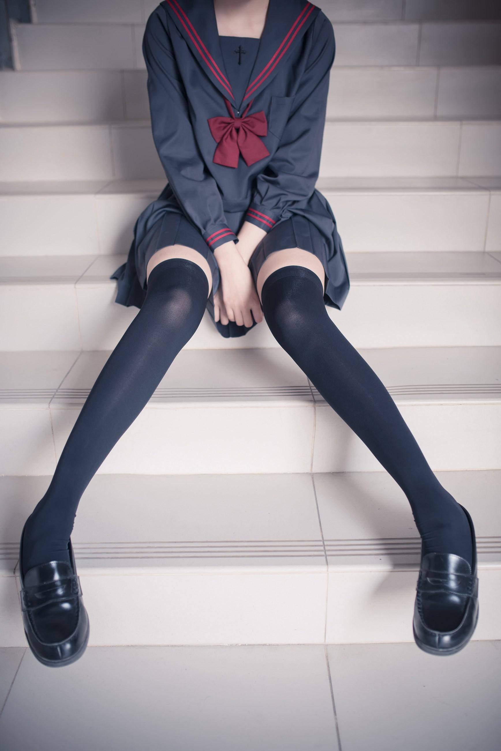 【兔玩映画】黑丝过膝袜 兔玩映画 第37张