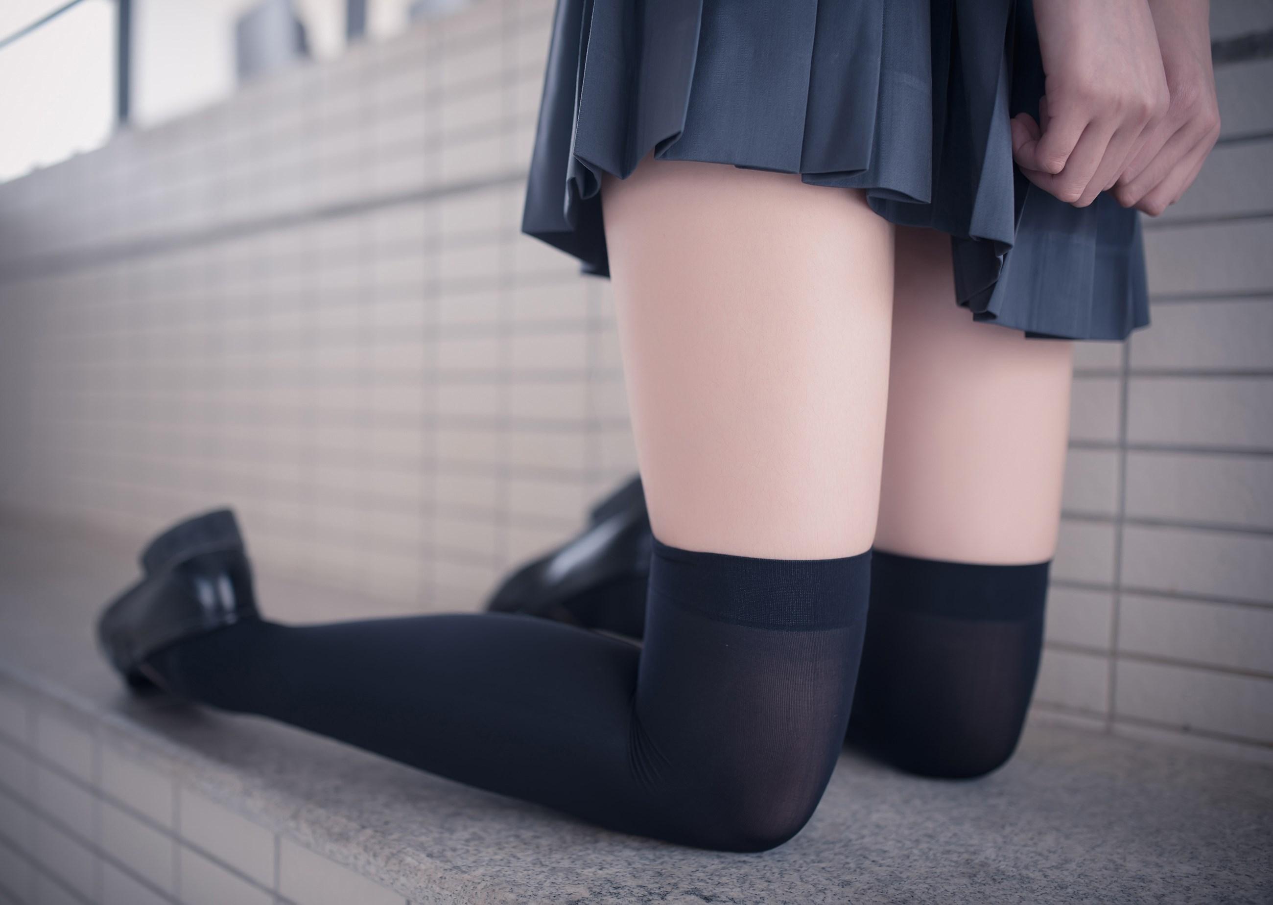 【兔玩映画】黑丝过膝袜 兔玩映画 第29张