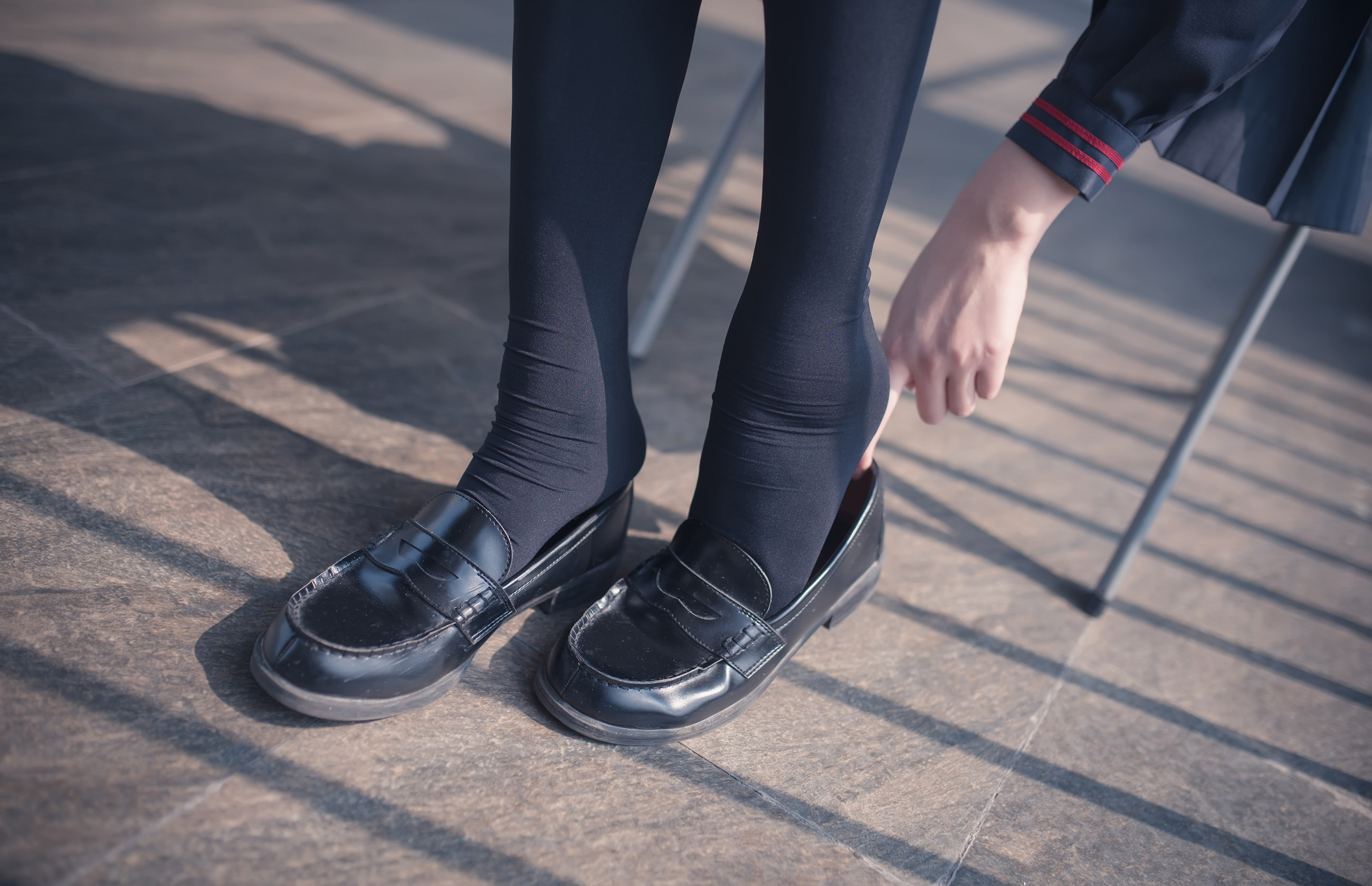 【兔玩映画】黑丝过膝袜 兔玩映画 第17张
