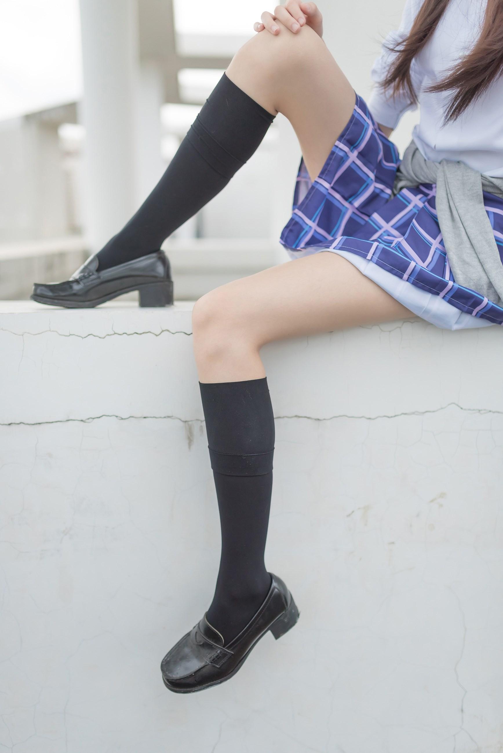 【兔玩映画】天台的蓝裙少女 兔玩映画 第35张