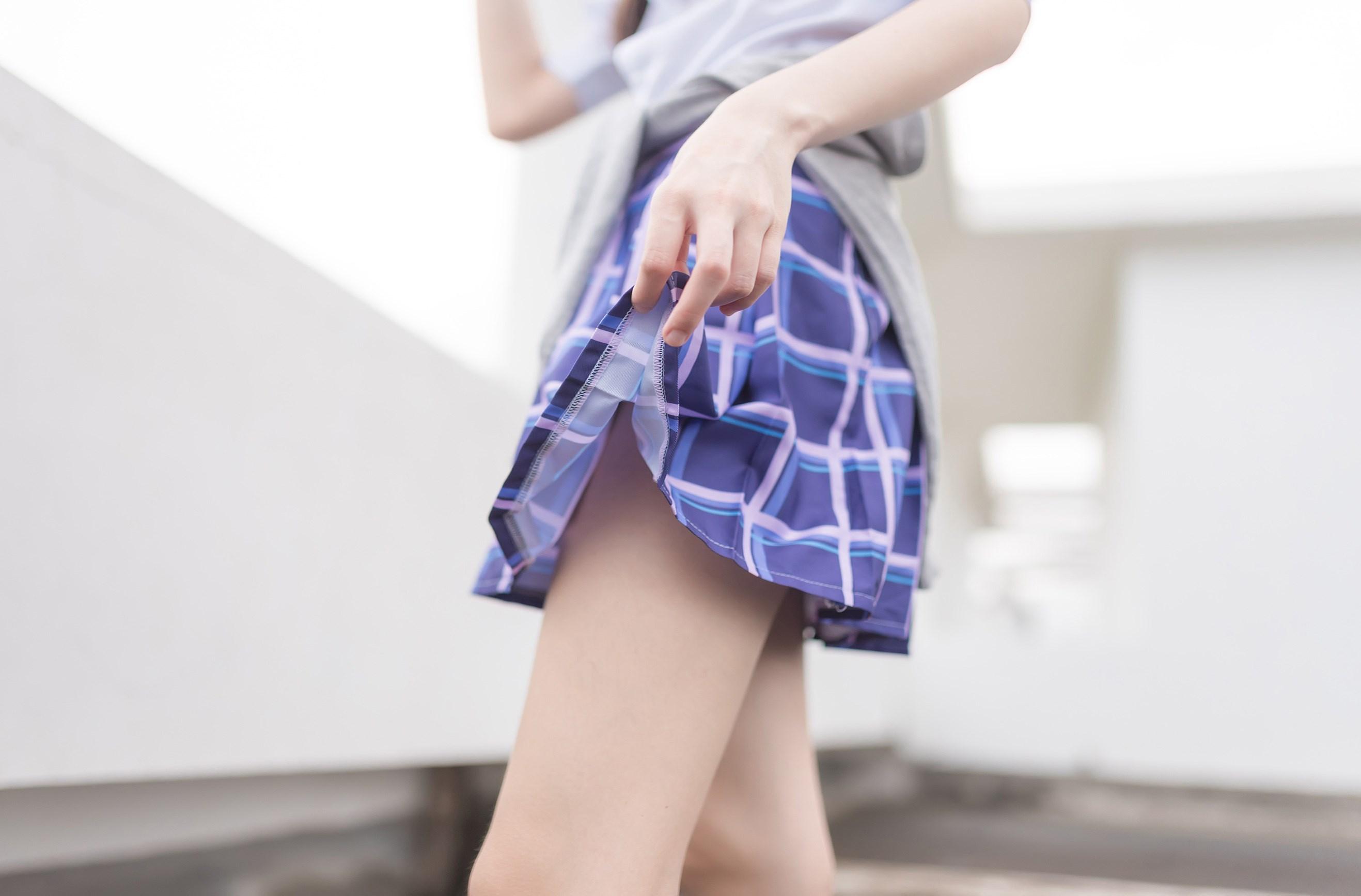 【兔玩映画】天台的蓝裙少女 兔玩映画 第28张