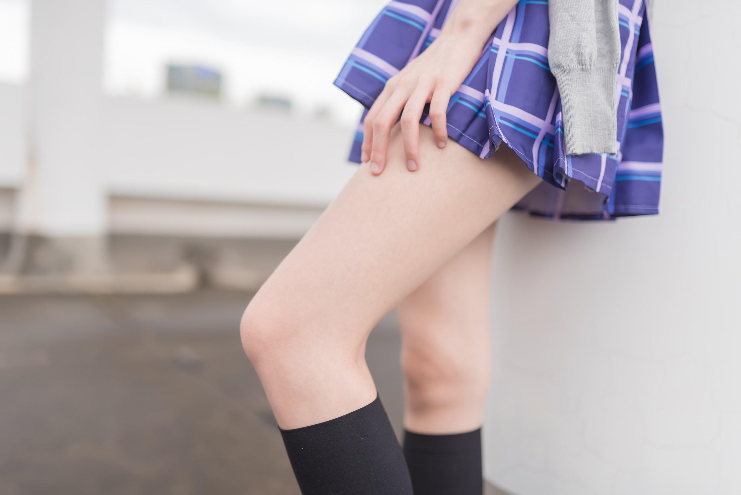 【兔玩映画】天台的蓝裙少女 兔玩映画 第10张