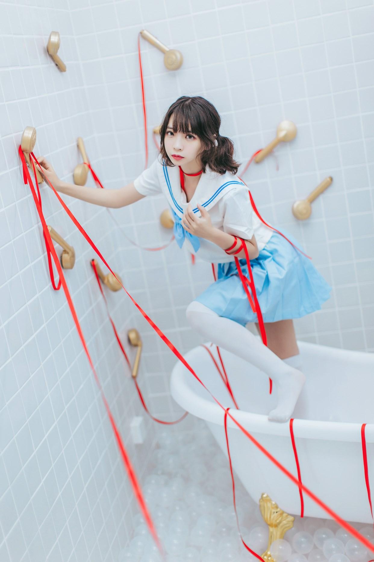 【兔玩映画】睡衣与浴室的水手服 兔玩映画 第38张