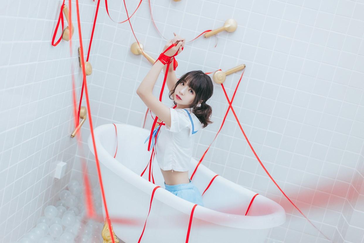 【兔玩映画】睡衣与浴室的水手服 兔玩映画 第29张