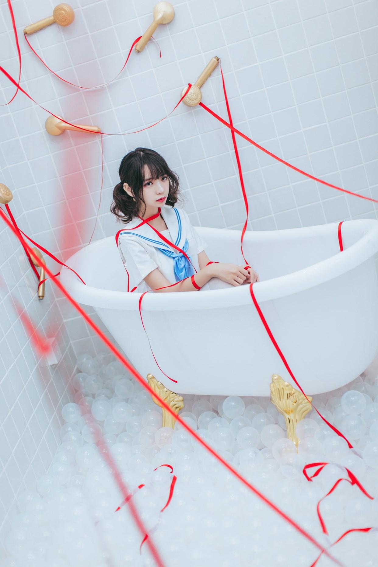 【兔玩映画】睡衣与浴室的水手服 兔玩映画 第26张