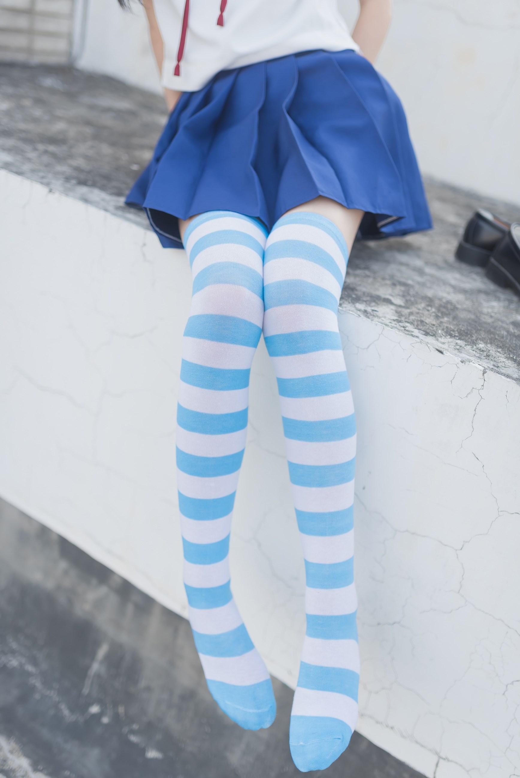 【兔玩映画】蓝白条纹的小细腿 兔玩映画 第48张