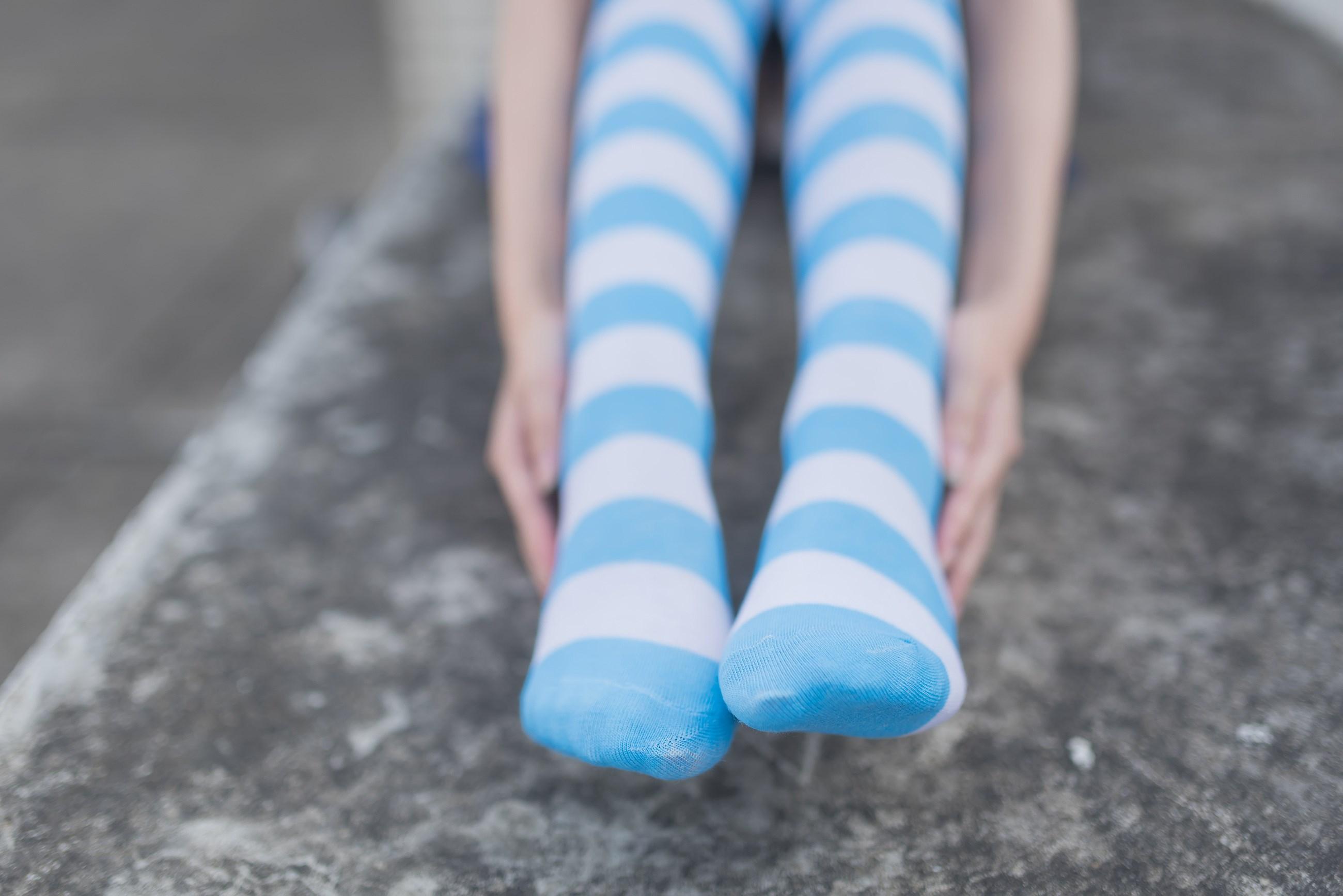 【兔玩映画】蓝白条纹的小细腿 兔玩映画 第47张