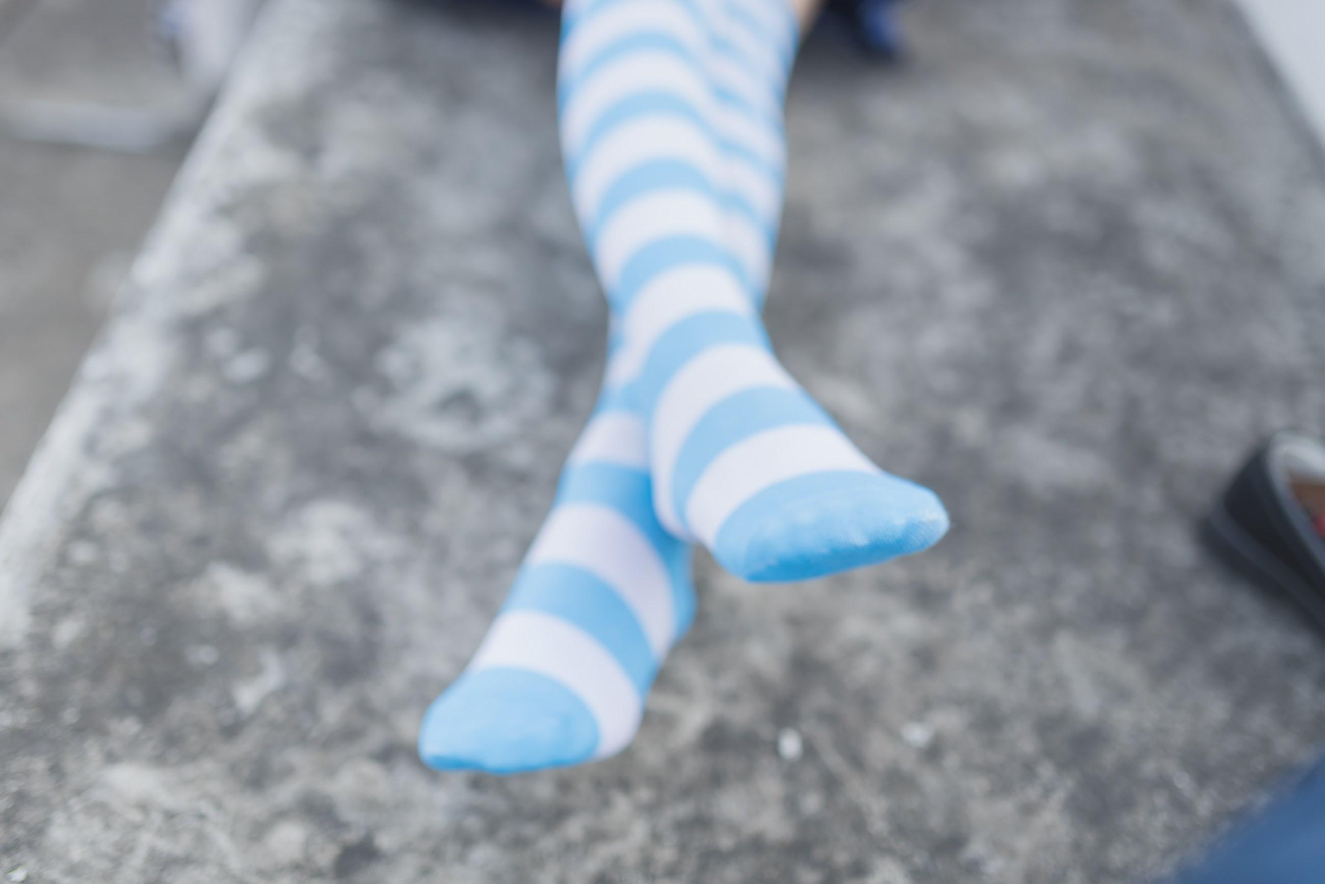 【兔玩映画】蓝白条纹的小细腿 兔玩映画 第46张