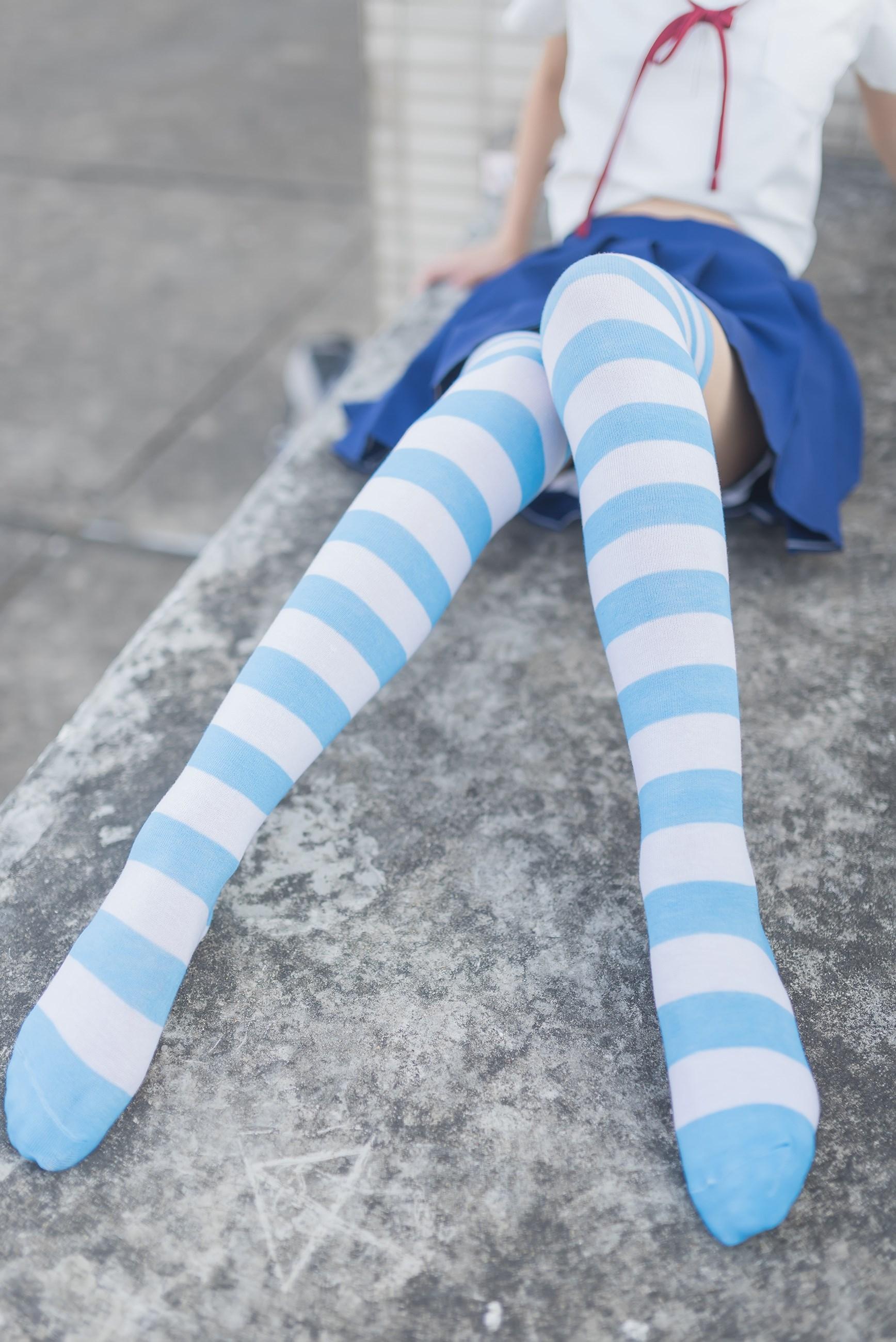 【兔玩映画】蓝白条纹的小细腿 兔玩映画 第45张