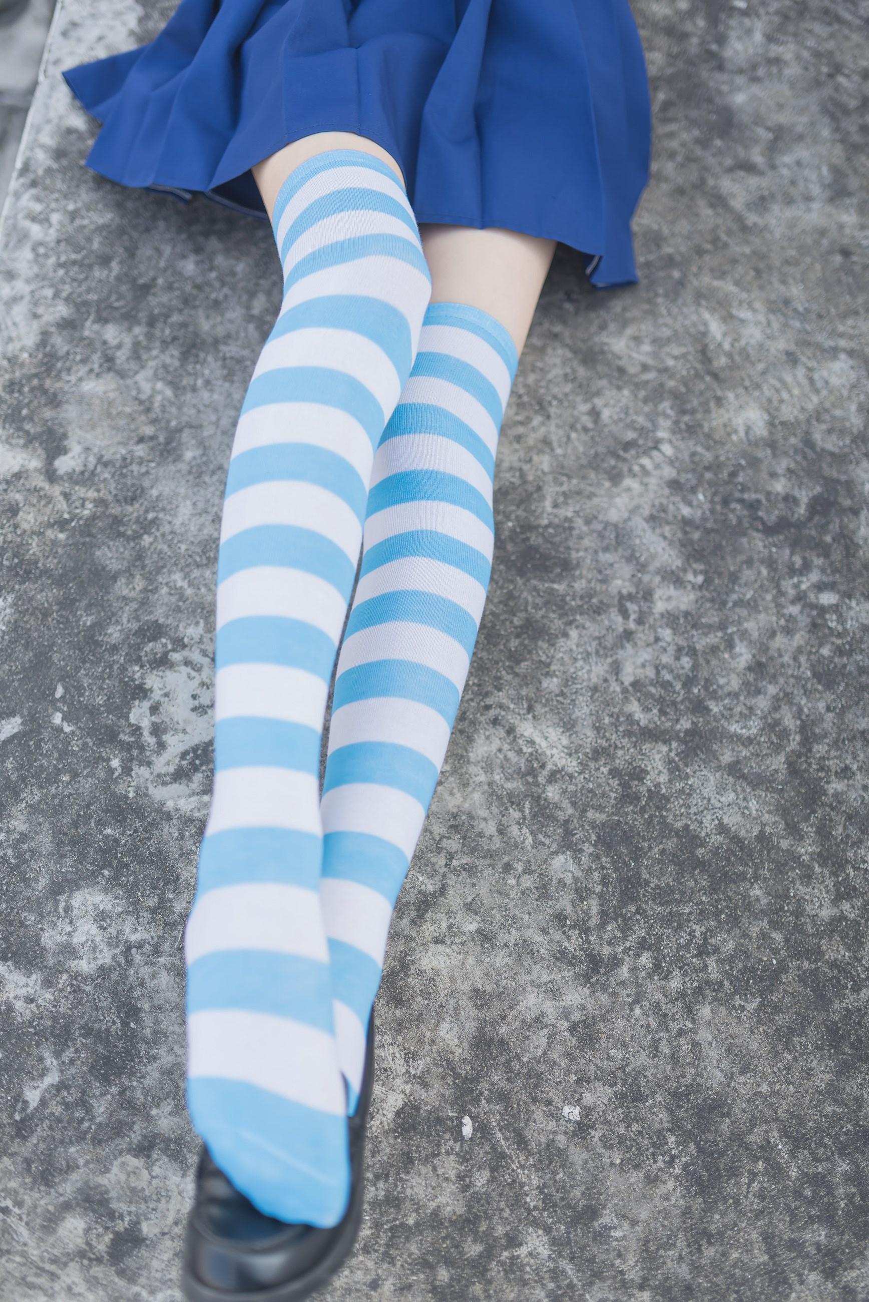 【兔玩映画】蓝白条纹的小细腿 兔玩映画 第44张