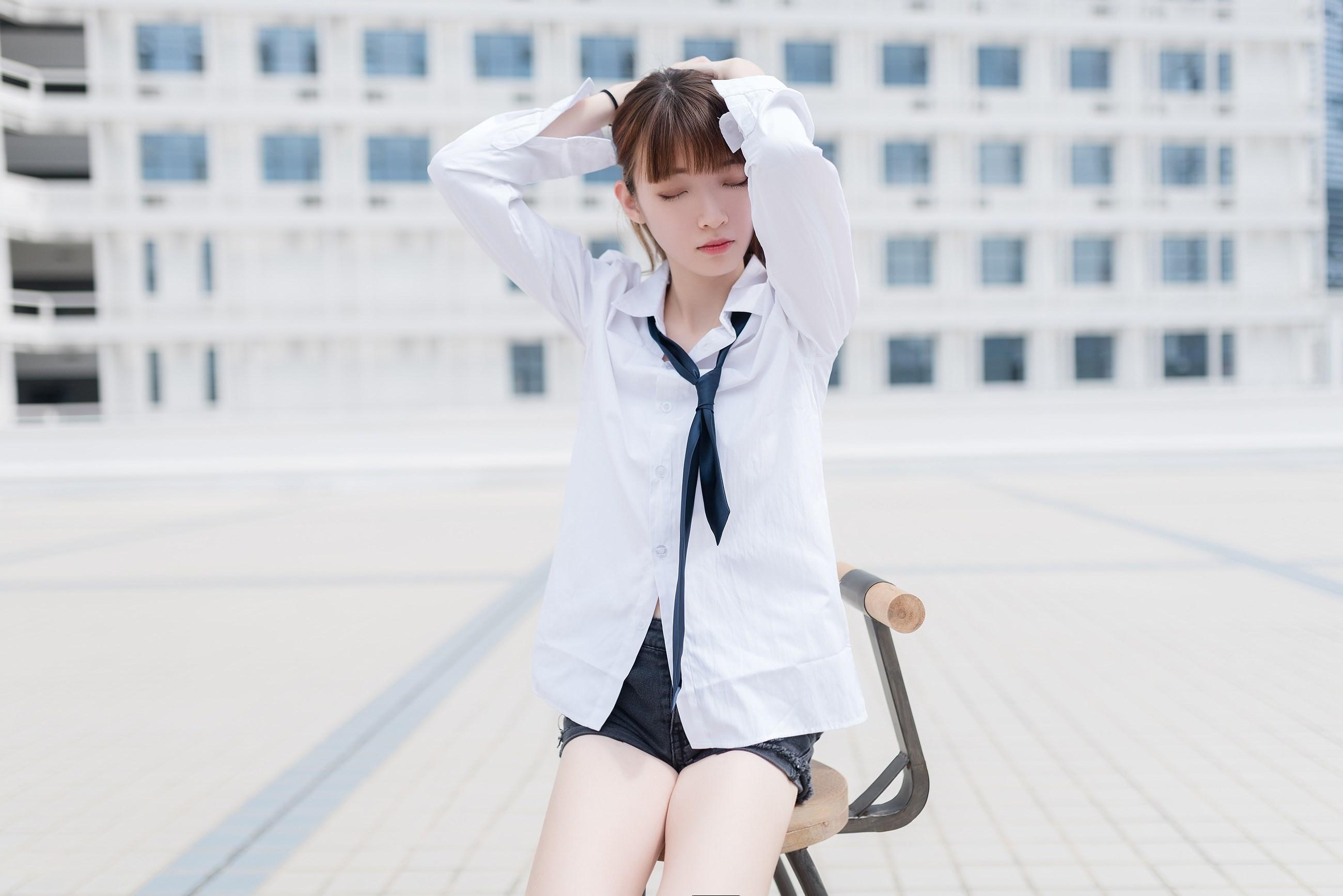 【兔玩映画】裸脚白衬衫 · 足控福利 兔玩映画 第44张