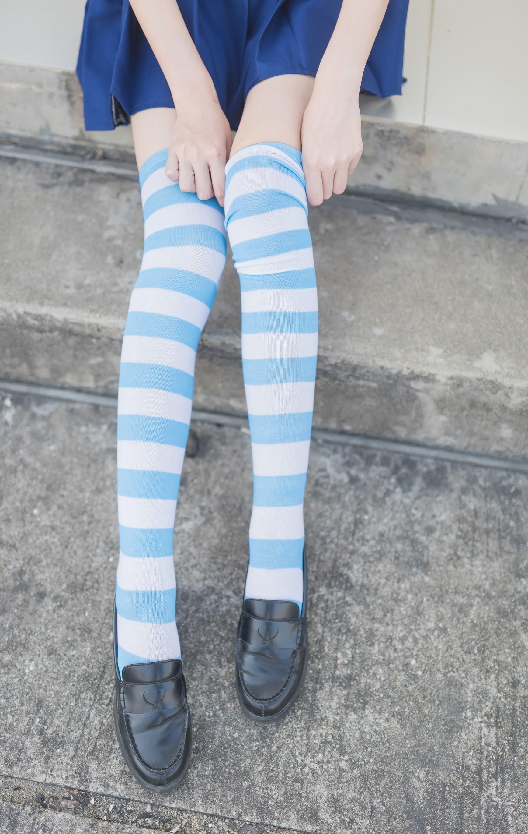 【兔玩映画】蓝白条纹的小细腿 兔玩映画 第30张