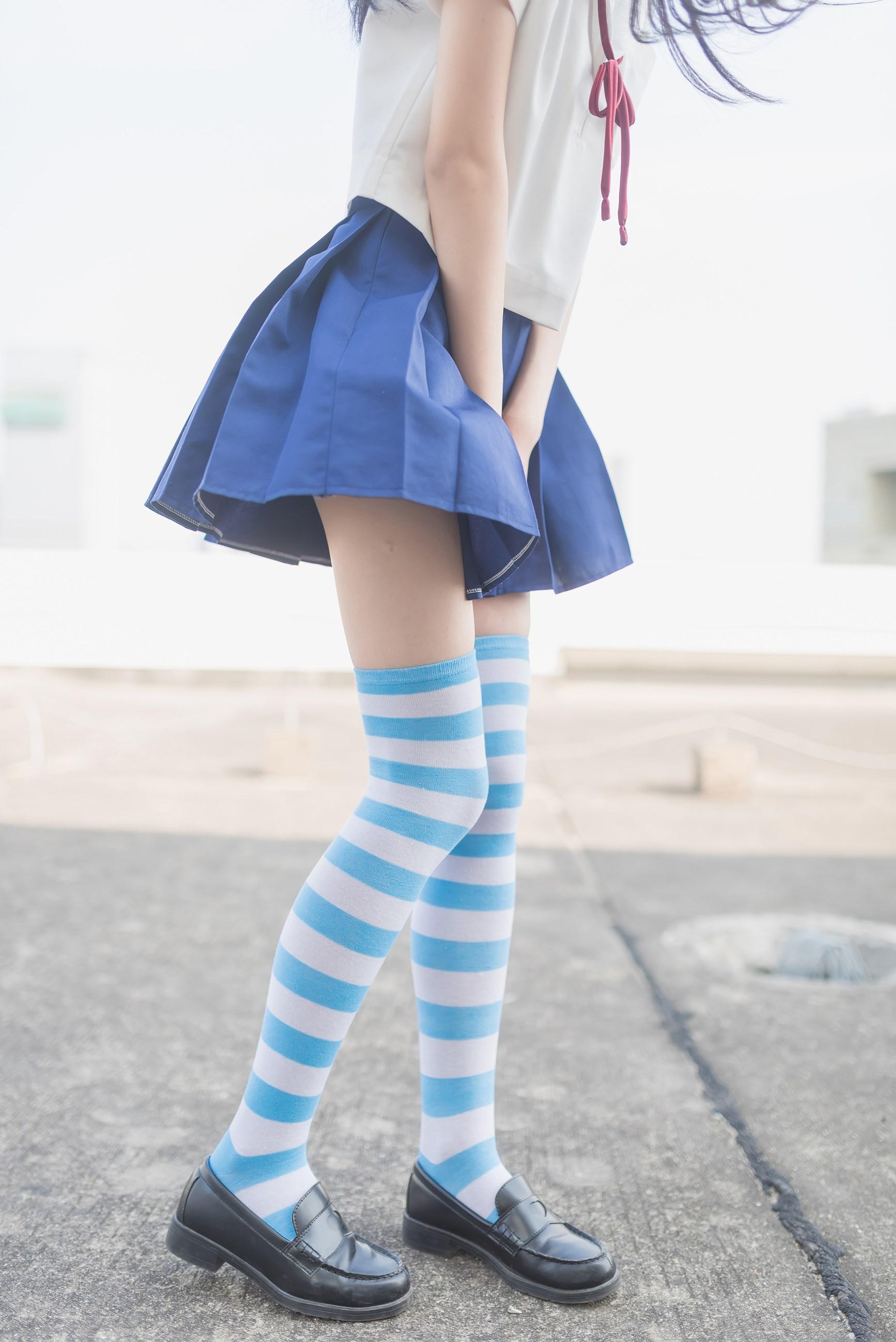 【兔玩映画】蓝白条纹的小细腿 兔玩映画 第22张