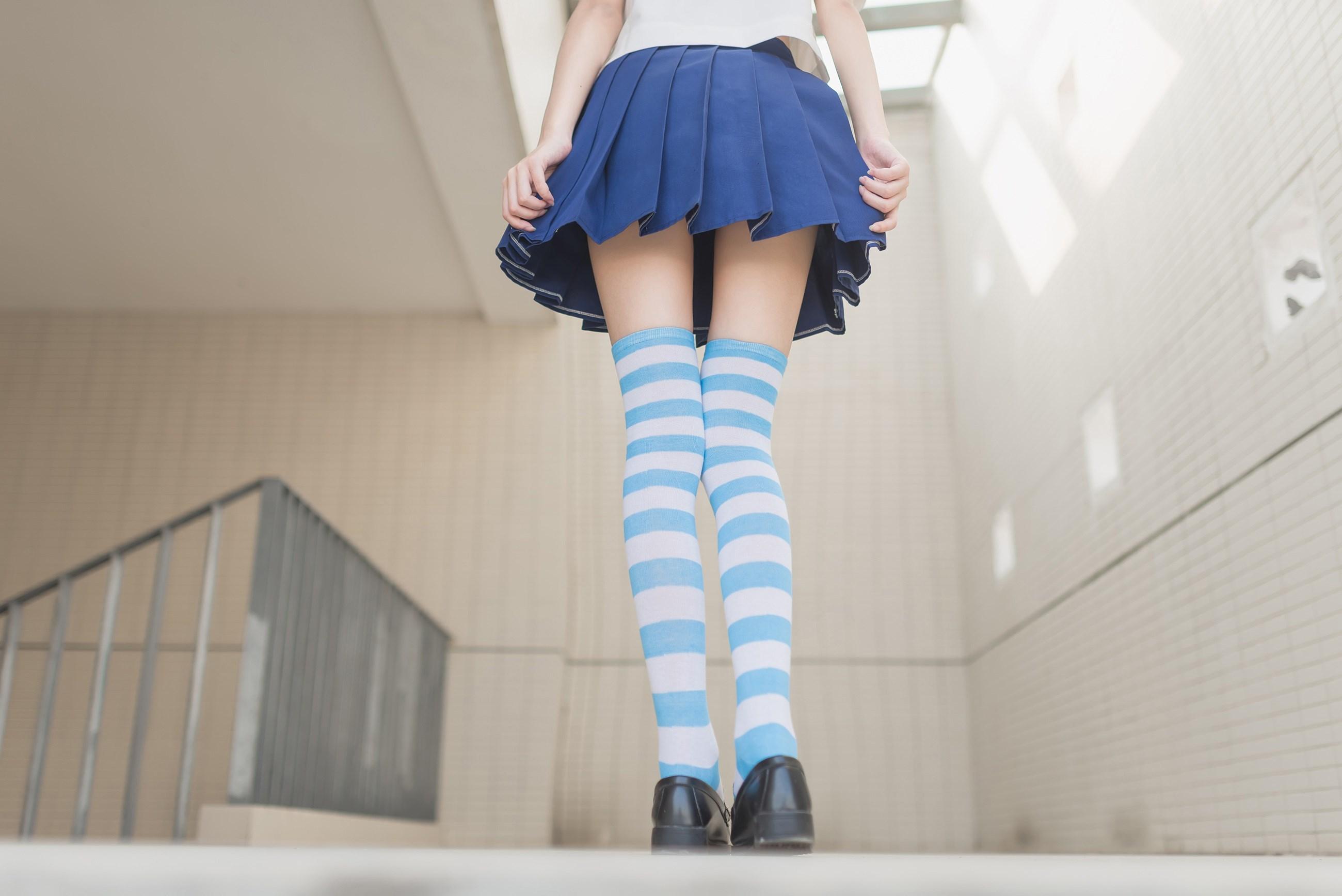 【兔玩映画】蓝白条纹的小细腿 兔玩映画 第16张