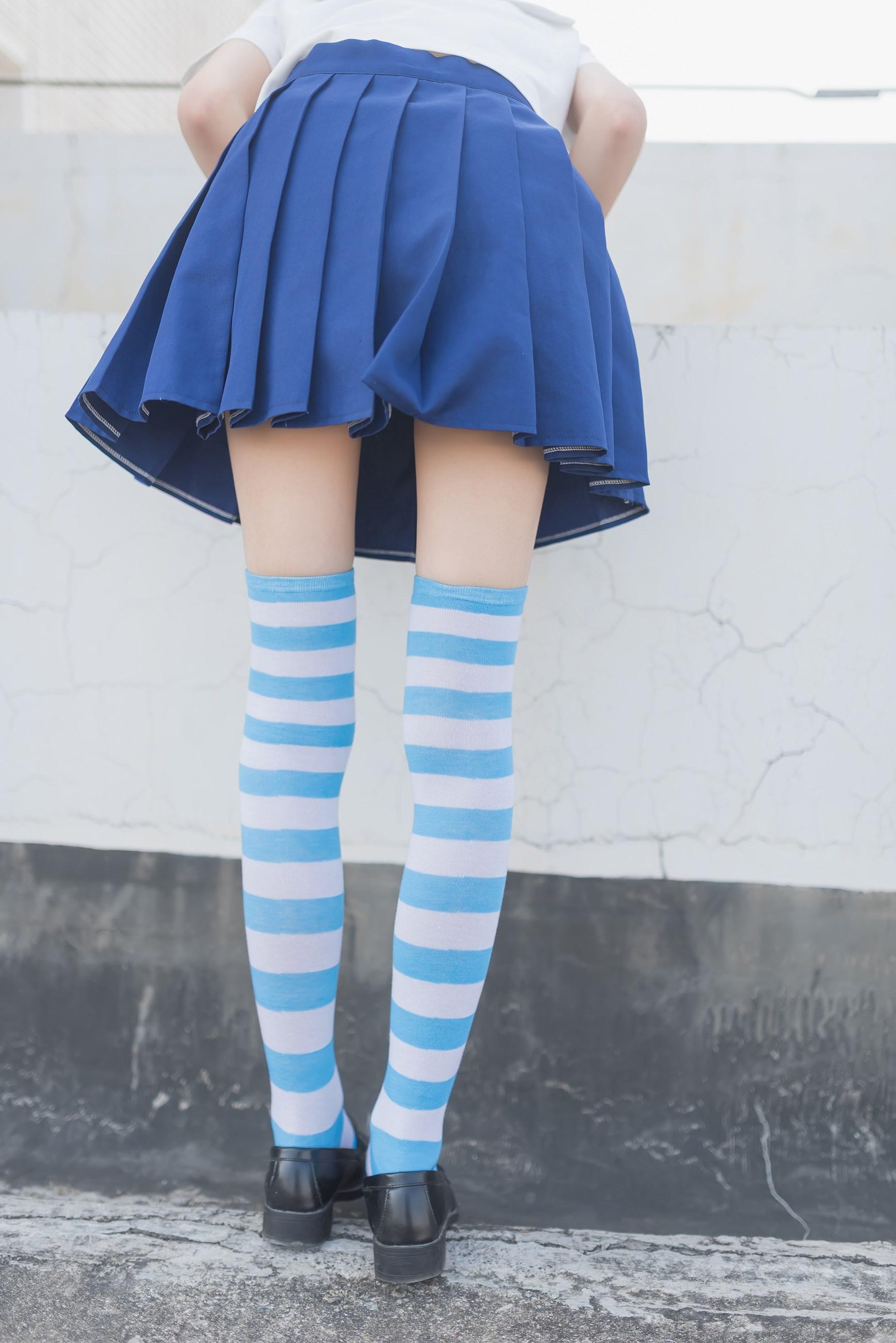 【兔玩映画】蓝白条纹的小细腿 兔玩映画 第14张