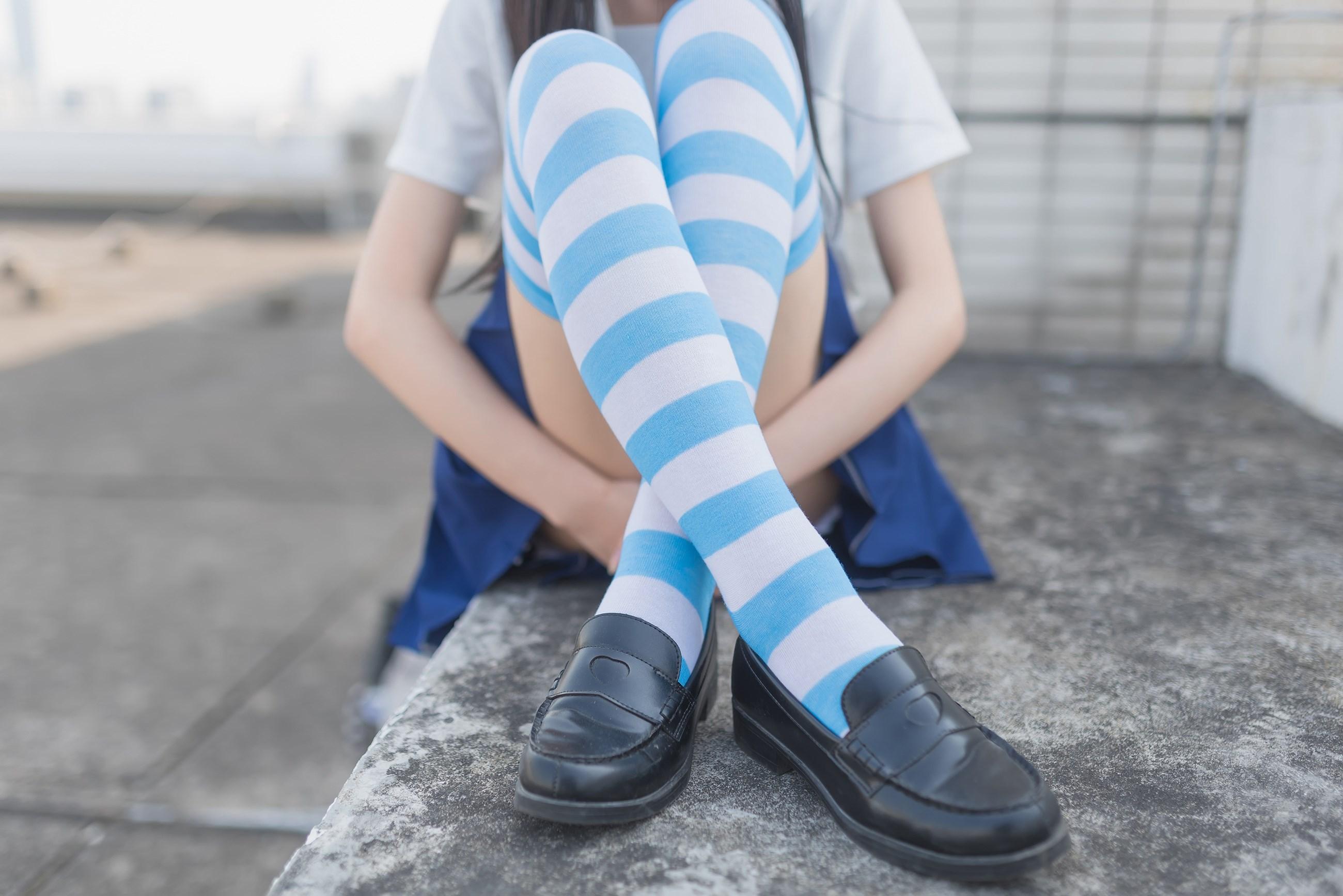 【兔玩映画】蓝白条纹的小细腿 兔玩映画 第13张