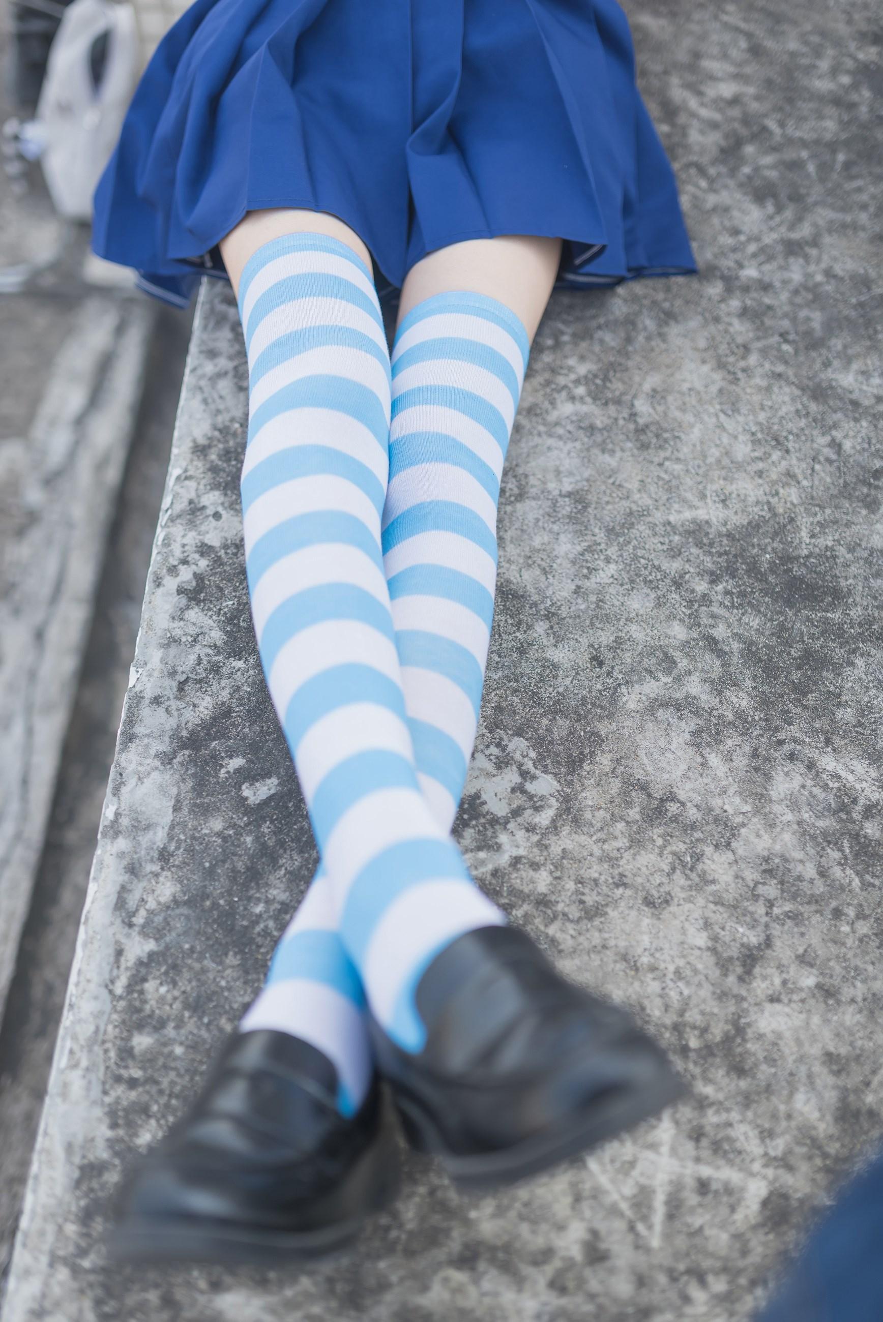 【兔玩映画】蓝白条纹的小细腿 兔玩映画 第12张