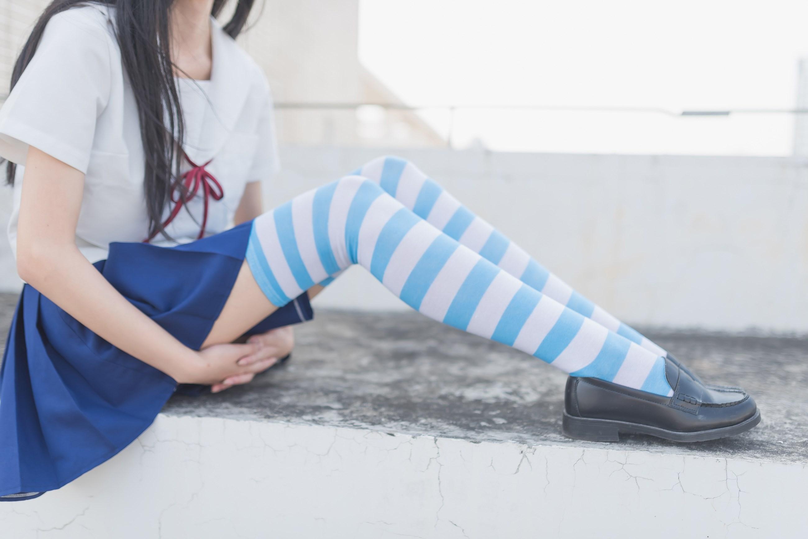 【兔玩映画】蓝白条纹的小细腿 兔玩映画 第9张