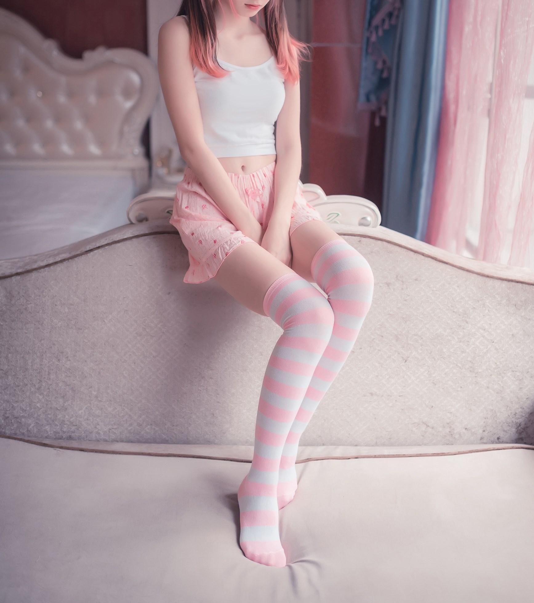【兔玩映画】粉白条纹 兔玩映画 第6张
