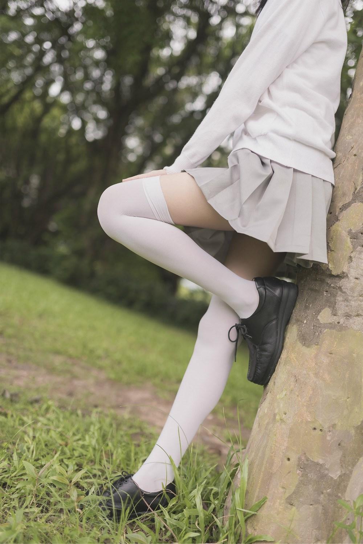 【兔玩映画】白丝过膝袜 兔玩映画 第55张