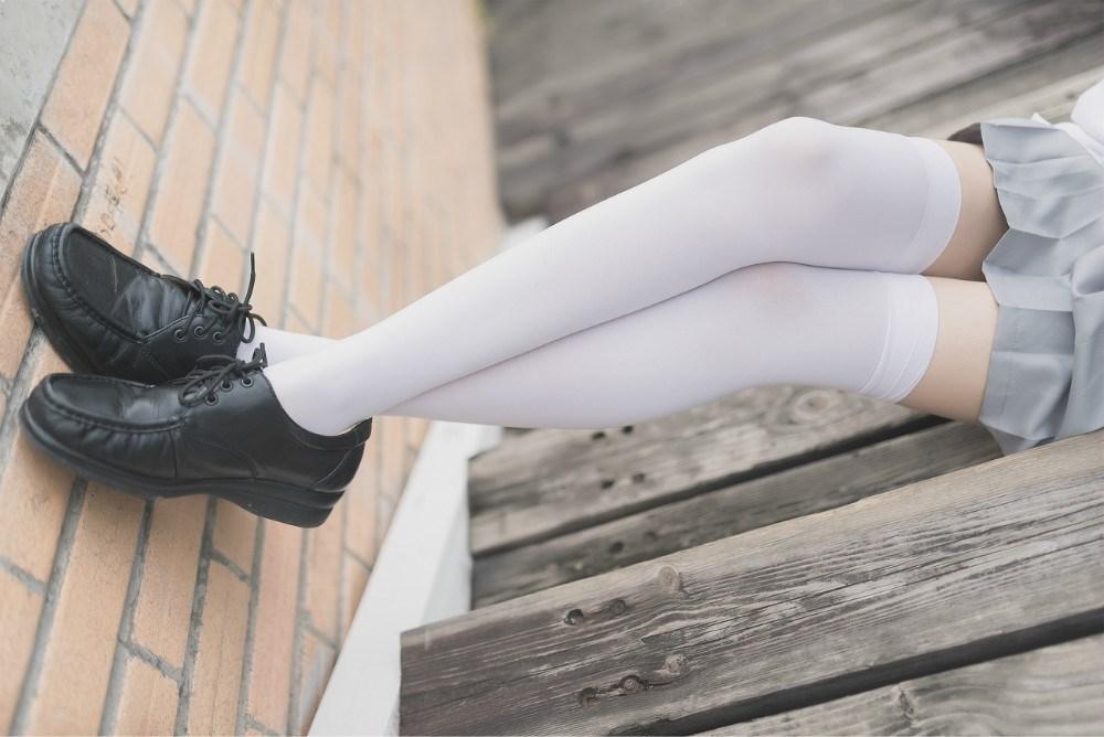 【兔玩映画】白丝过膝袜 兔玩映画 第49张