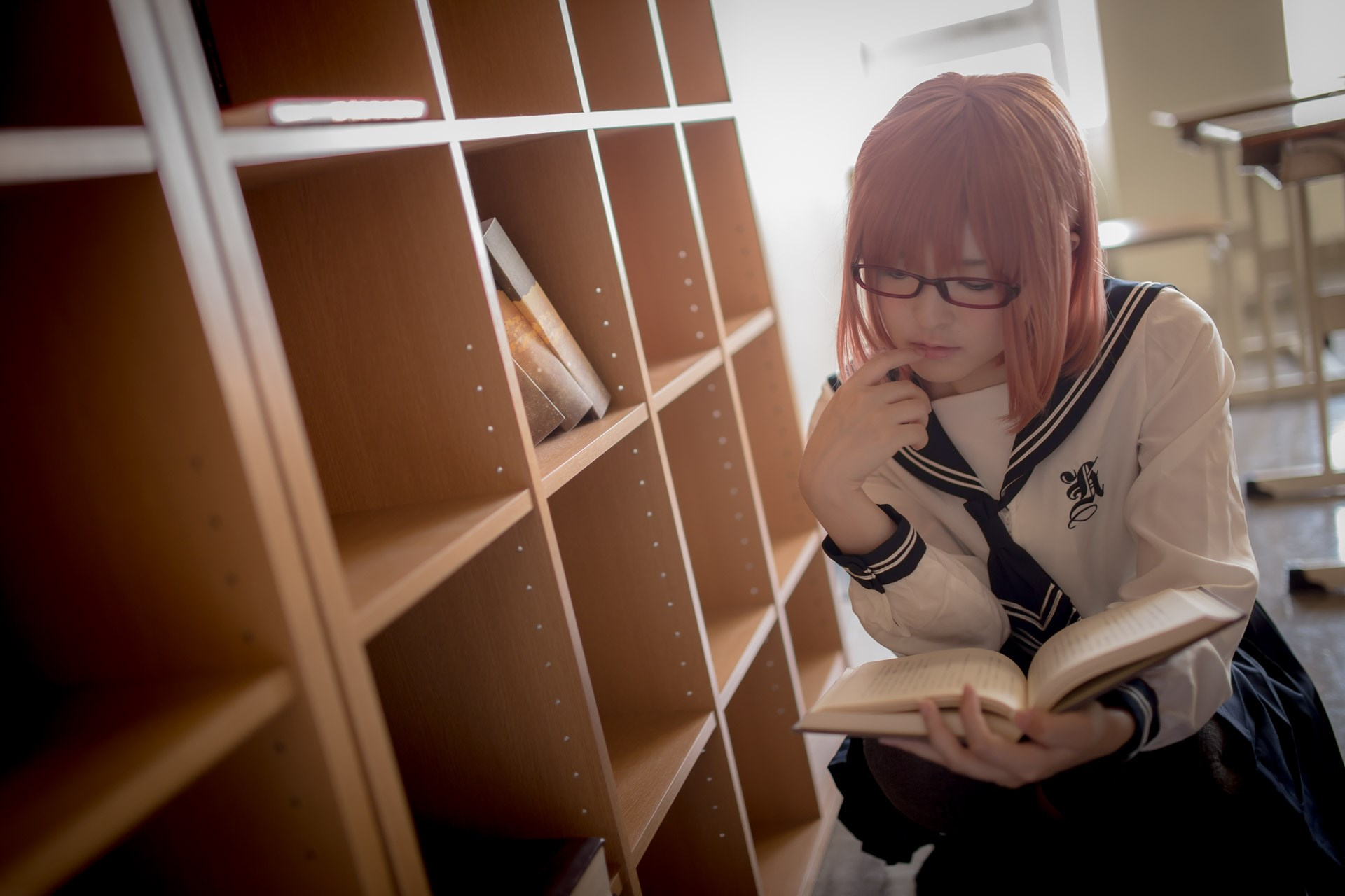 【兔玩映画】图书馆里学妹酱 兔玩映画 第38张