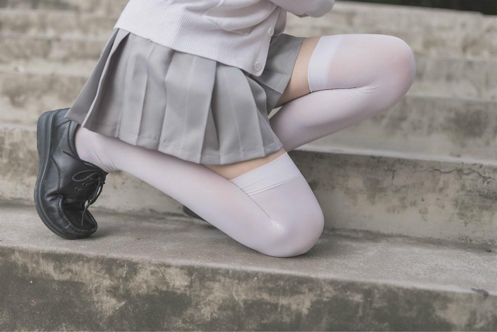 【兔玩映画】白丝过膝袜 兔玩映画 第43张