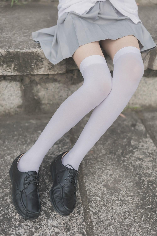 【兔玩映画】白丝过膝袜 兔玩映画 第36张