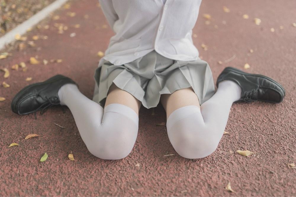 【兔玩映画】白丝过膝袜 兔玩映画 第32张