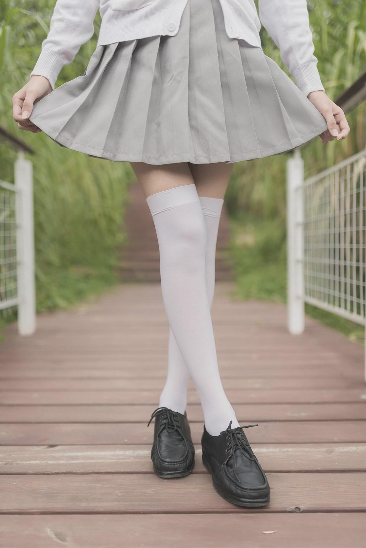 【兔玩映画】白丝过膝袜 兔玩映画 第29张