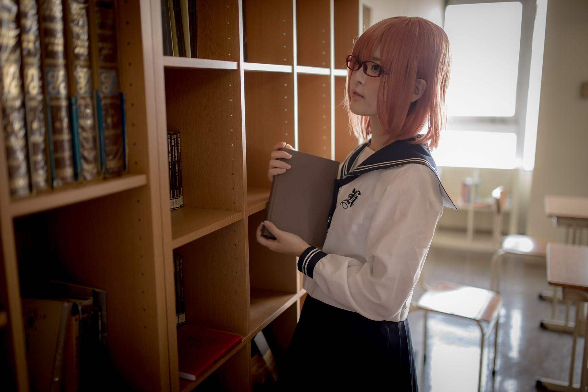 【兔玩映画】图书馆里学妹酱 兔玩映画 第19张