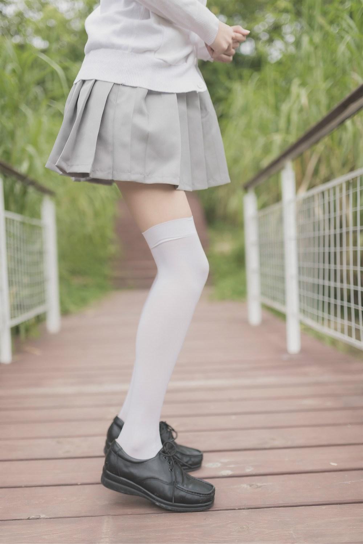 【兔玩映画】白丝过膝袜 兔玩映画 第25张