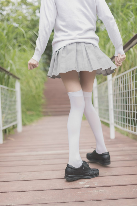 【兔玩映画】白丝过膝袜 兔玩映画 第22张
