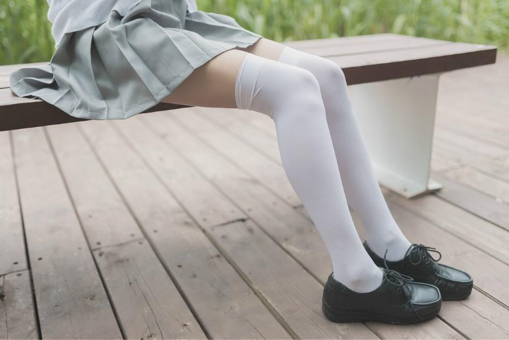【兔玩映画】白丝过膝袜 兔玩映画 第8张
