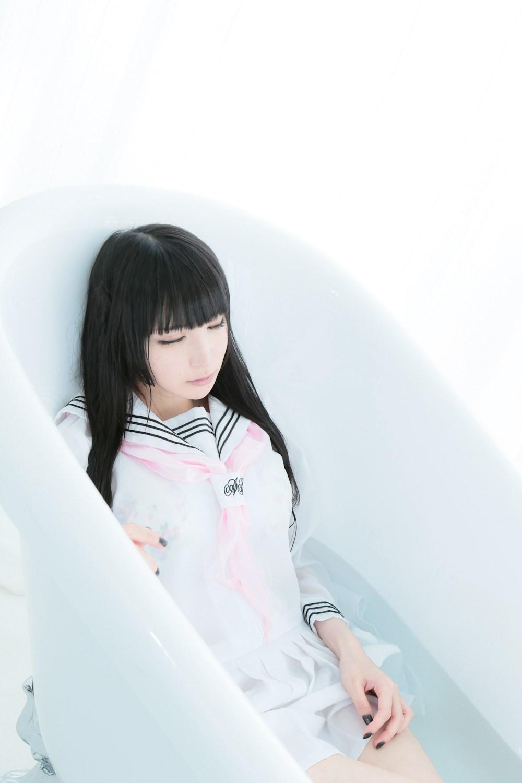 【兔玩映画】白色的水手服 兔玩映画 第35张