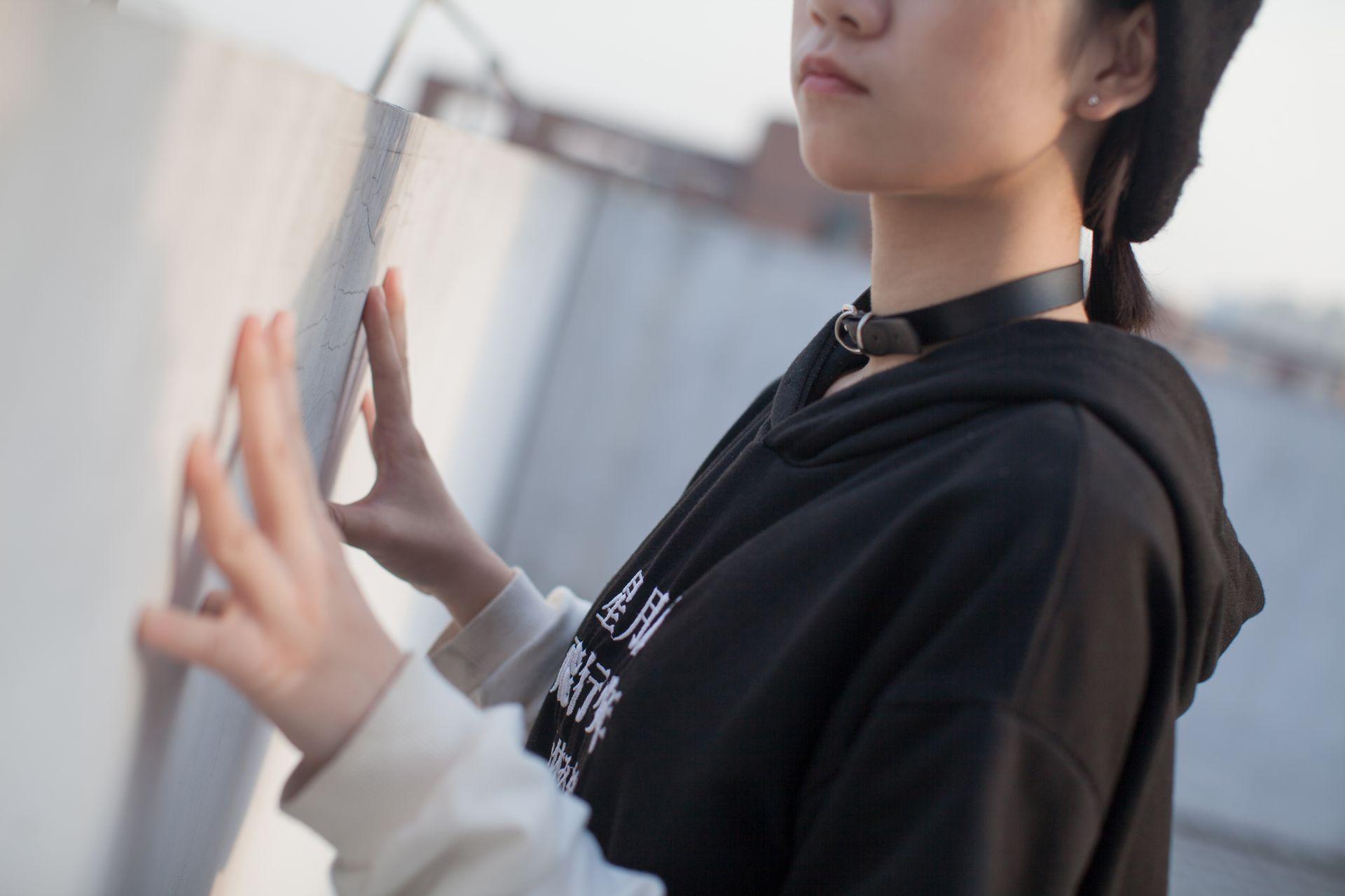 少女秩序 EXVOL.04 天台的黑丝小恶魔 兔玩映画 第6张