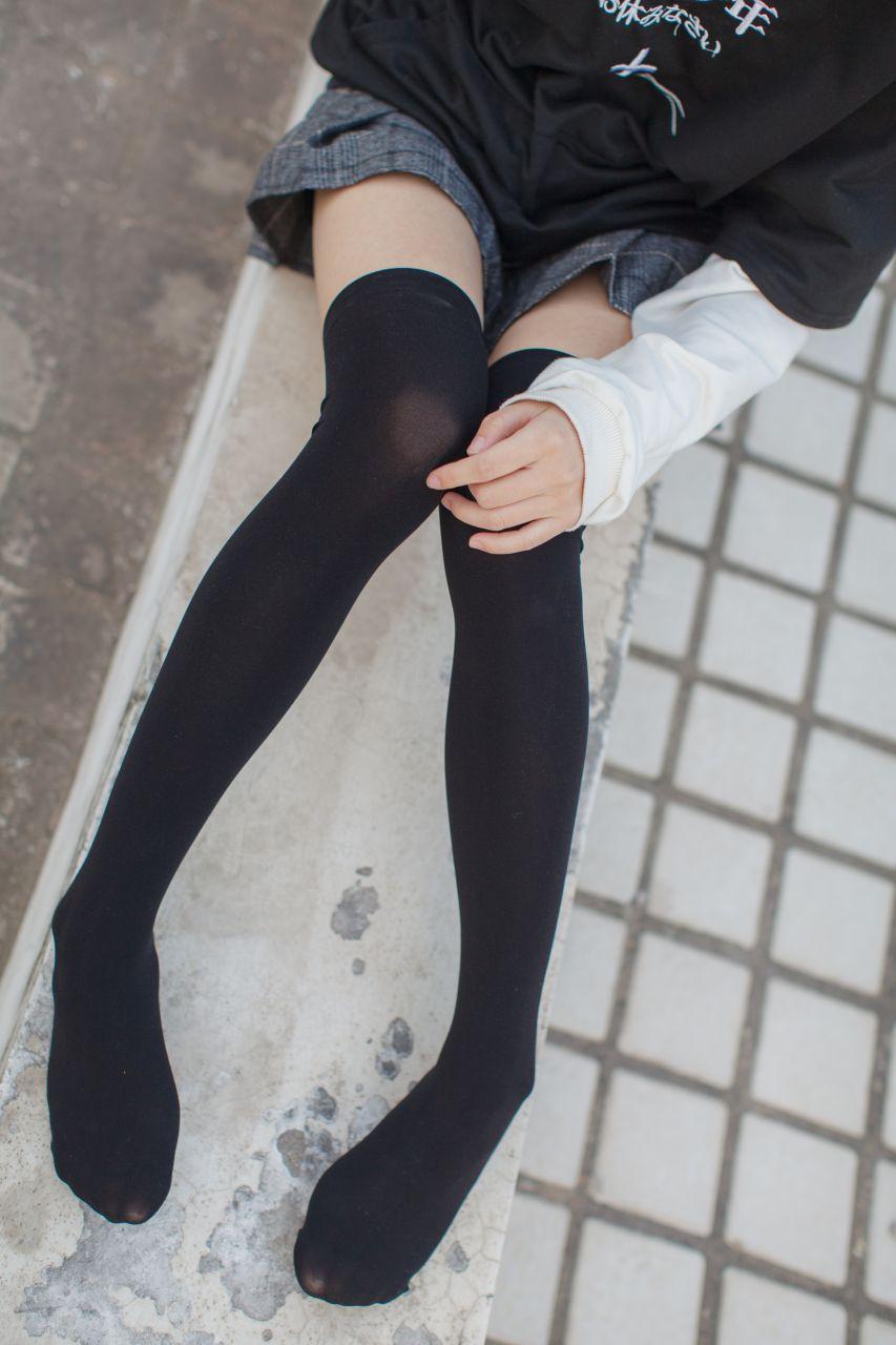 少女秩序 EXVOL.04 天台的黑丝小恶魔 兔玩映画 第22张