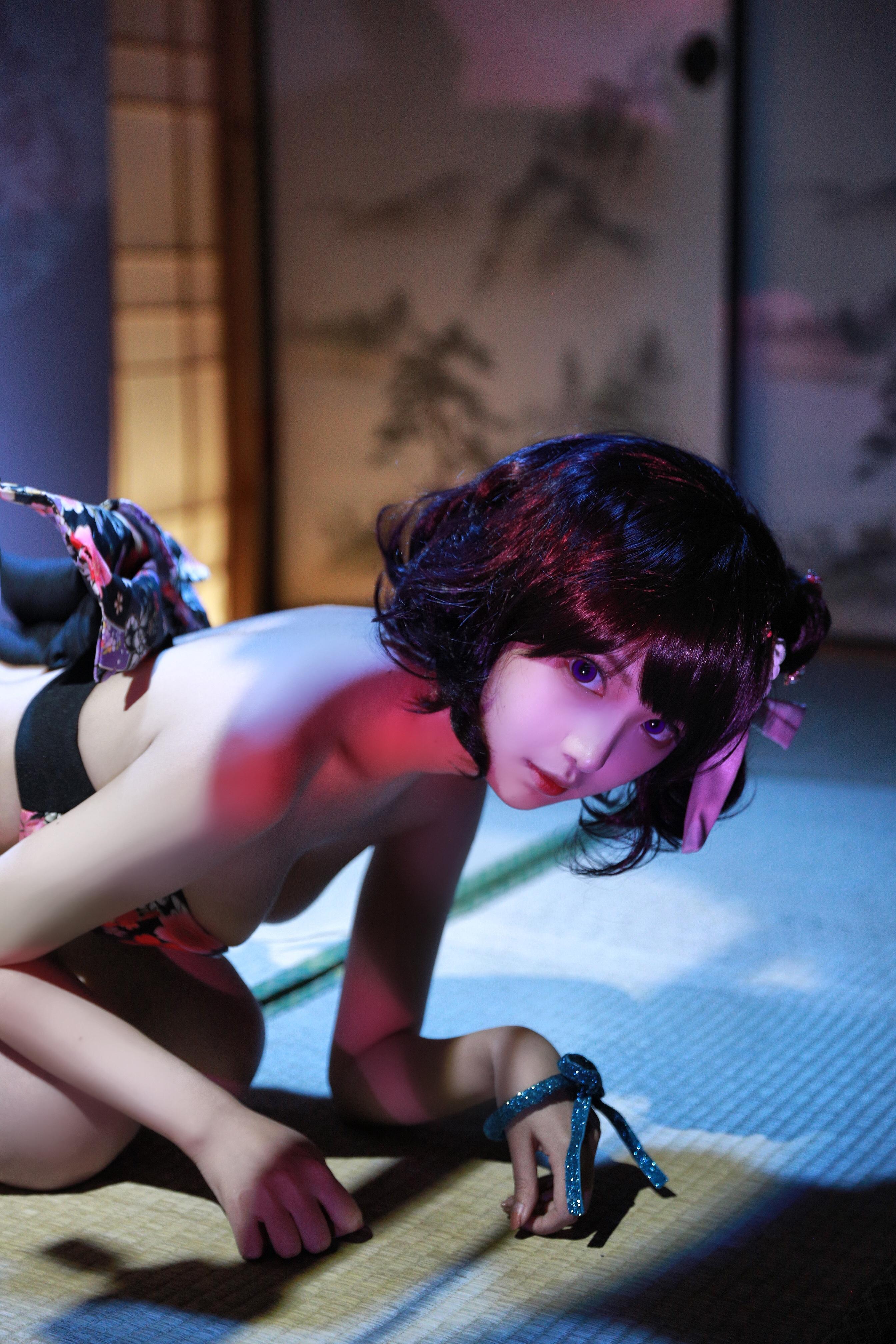 Shika小鹿鹿北斋泳装写真,俏皮性感集于一身