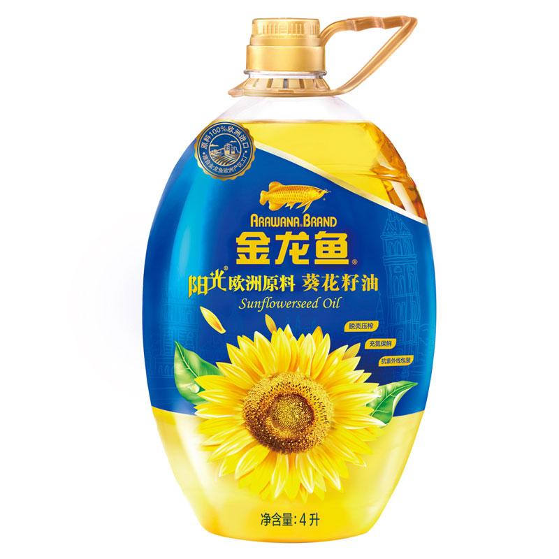 金龙鱼 阳光葵花籽油4L
