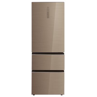 美的(Midea)BCD-326WGPZM 326升凯撒金 温湿精控 一级能效 智能操控风冷无霜意式三门家用冰箱