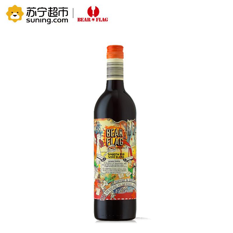《【苏宁自营】熊旗TM加州柔顺混酿干红 9.95元(2件5折)》