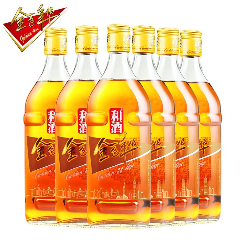 和酒 金色年华 八年黄酒 500ml*6瓶
