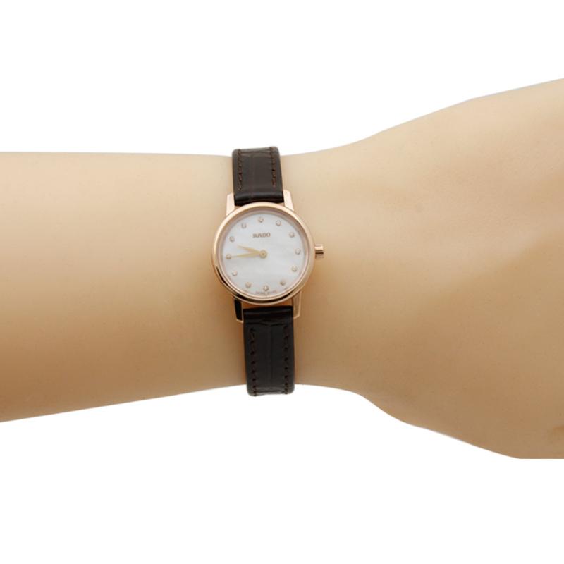 Rado 雷达 Coupole晶萃系列 R22891915 珍珠贝母镶钻 女式手表 优惠码折后$386.1海淘转运关税补贴到手约¥2711